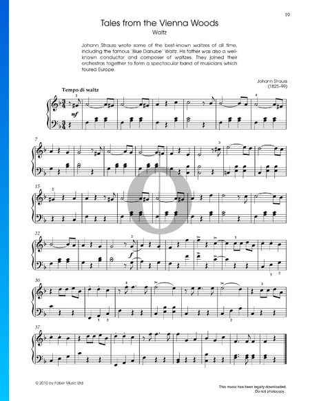 Tales from the Vienna Woods, Op. 325  Partitura