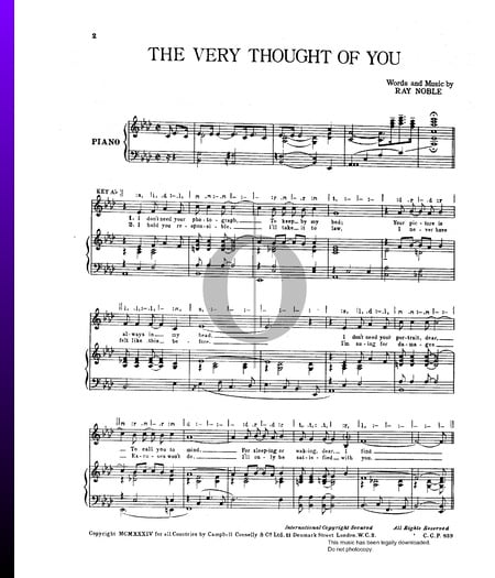 The Very Thought Of You Musik-Noten