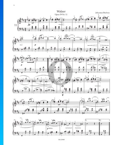 Walzer, Op. 39 Nr. 11 Musik-Noten