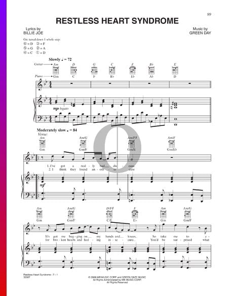 Restless Heart Syndrome Musik-Noten