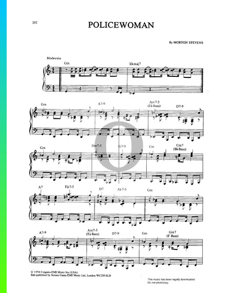 Policewoman Sheet Music