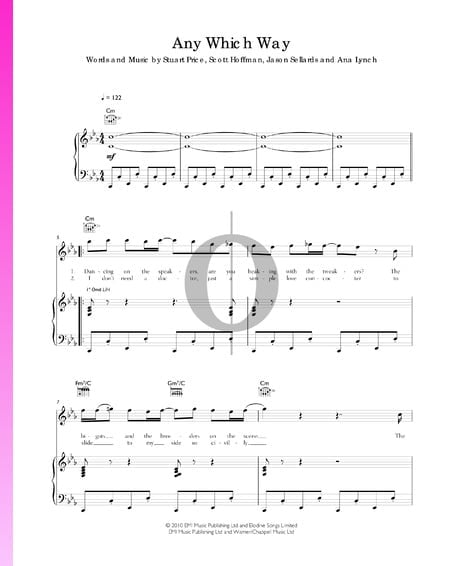 Any Which Way Sheet Music