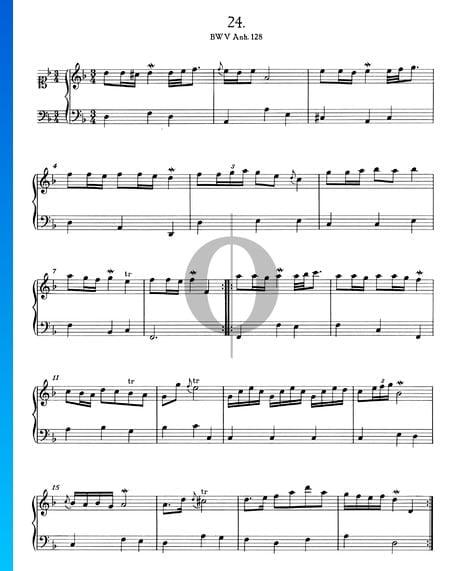 Polonaise d-Moll, BWV Anh. 128 Musik-Noten