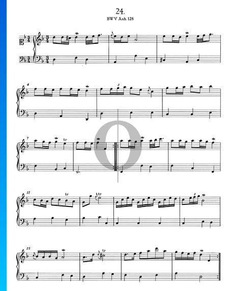 Polonaise en Ré mineur, BWV Anh. 128 Partition