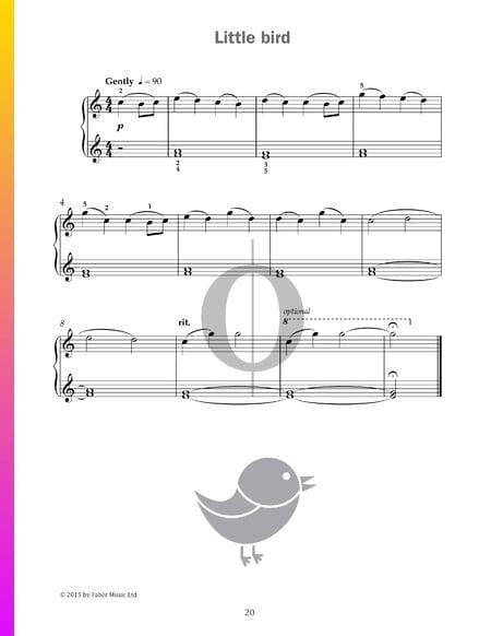 Little bird Partitura