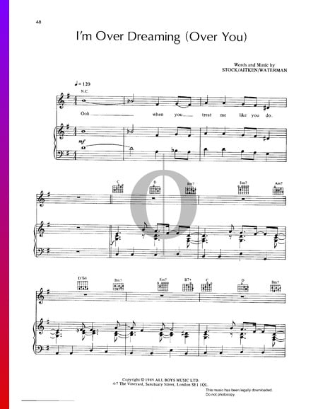 I'm Over Dreaming (Over You) Sheet Music