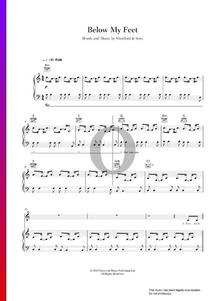 Below My Feet Sheet Music