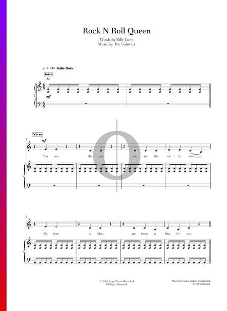 Rock N Roll Queen Musik-Noten