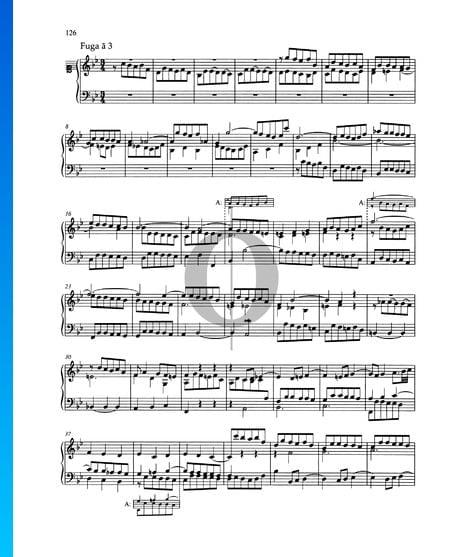 Fuga en si bemol mayor, BWV 890 Partitura