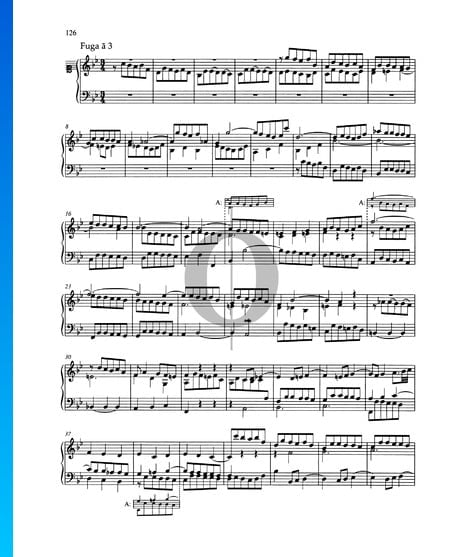 Fugue B-flat Major, BWV 890 Sheet Music