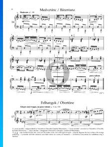 Mikrokosmos Sz. 107 Vol. 4: Nr. 102 Obertöne