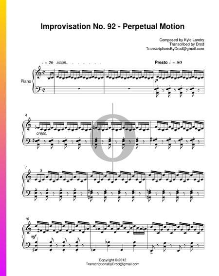 Improvisation No. 92 - Perpetual Motion Musik-Noten
