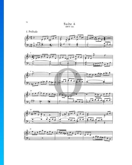 Suites Anglaises No. 6 en Ré mineur, BWV 811: 1. Prélude Partition