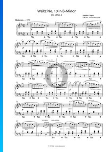 Walzer Nr. 10 h-Moll, Op. 69 Nr. 2