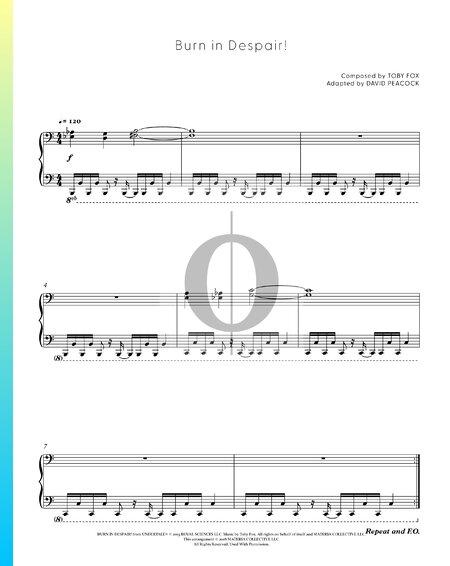 Burn in Despair! Sheet Music