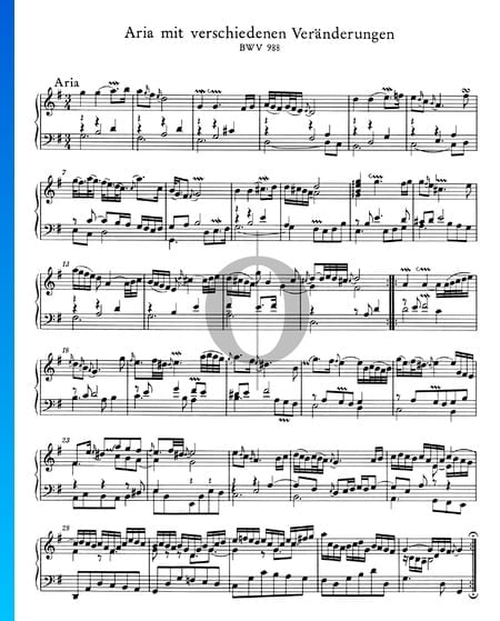 Goldberg Variations, BWV 988: 1. Aria Sheet Music