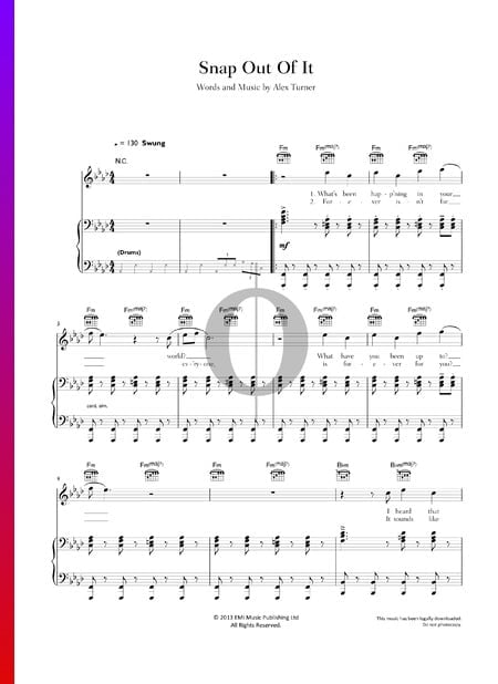 Snap Out Of It Sheet Music