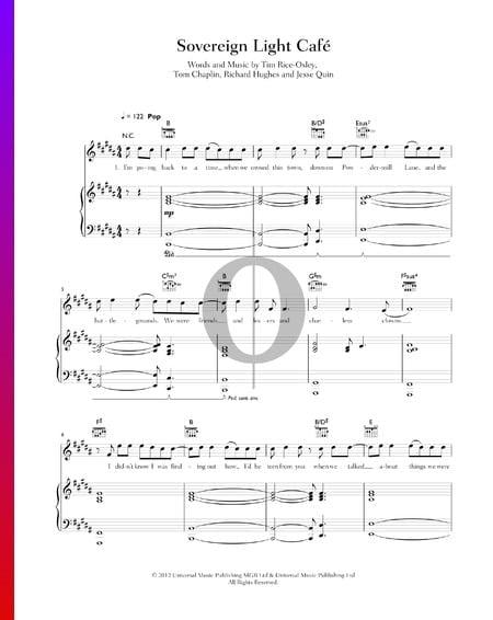Sovereign Light Cafe Musik-Noten