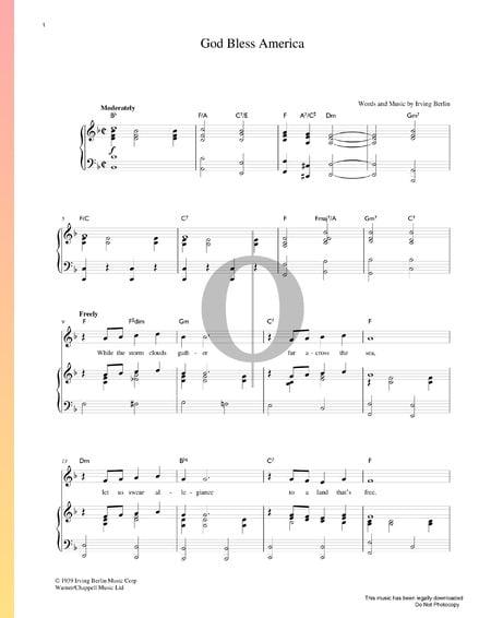 God Bless America Musik-Noten