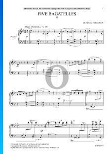 5 Bagatellen, Op. 9: Nr. 3. Allegro scherzando