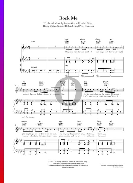 Rock Me Musik-Noten