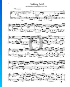 Partita en Sol mineur, BWV 1004: 1. Allemanda