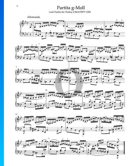 Partita in g-Moll, BWV 1004: 1. Allemanda Musik-Noten