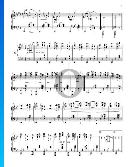 Vals, Op. 39 n.º 8 Partitura