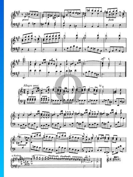 Sonate No. 1, Wq 49: 3. Allegro assai Partition
