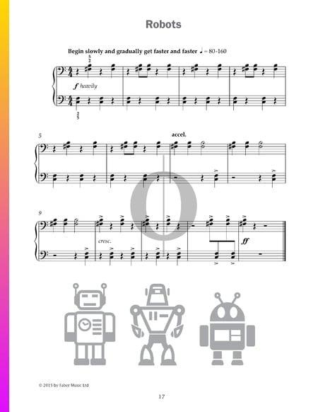 Robots Musik-Noten