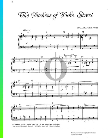 The Duchess Of Duke Street Sheet Music