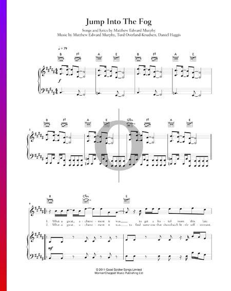Jump Into The Fog Musik-Noten