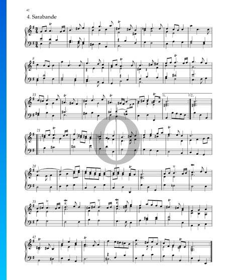 Suite Nr. 4 e-Moll, HWV 429: 4. Sarabande Musik-Noten