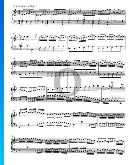 Concierto en re menor, BWV 987: 2. Un poco allegro Partitura