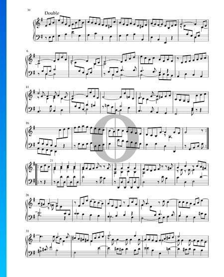 Partita in e-Moll, BWV 1002: 8. Double Musik-Noten