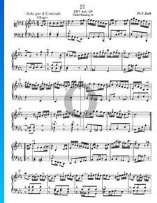 Solo para clavecín en mi bemol mayor, BWV Anh. 129