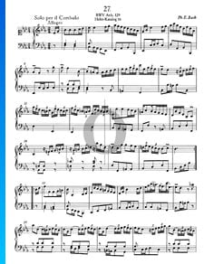 Solo per il Cembalo E-flat Major, BWV Anh. 129