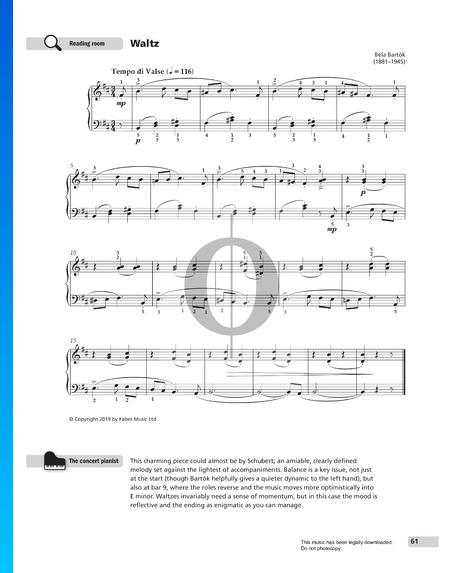 Waltz,  Sz. 53 No. 18 Partition