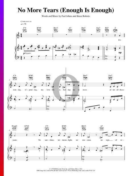 No More Tears (Enough Is Enough) Musik-Noten