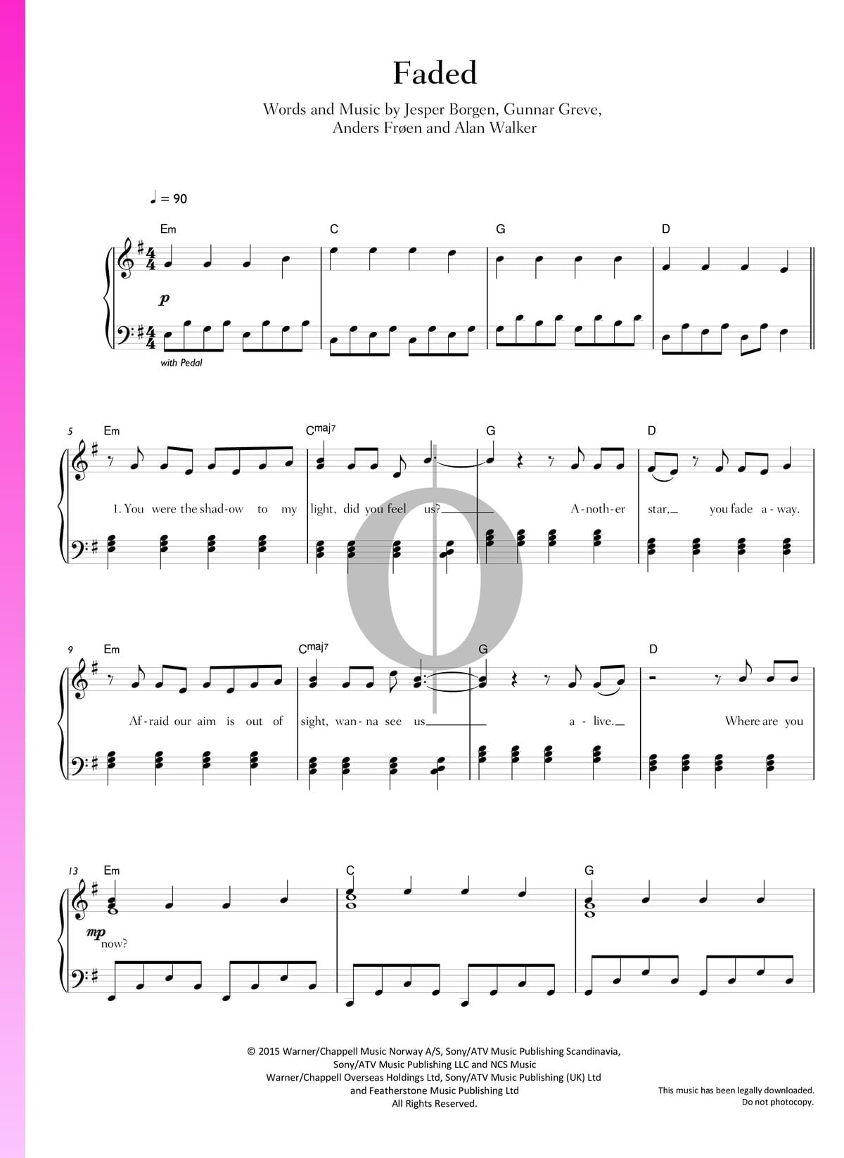 Alan Walker Faded Roblox Id ▷ faded sheet music (piano, voice) - pdf download