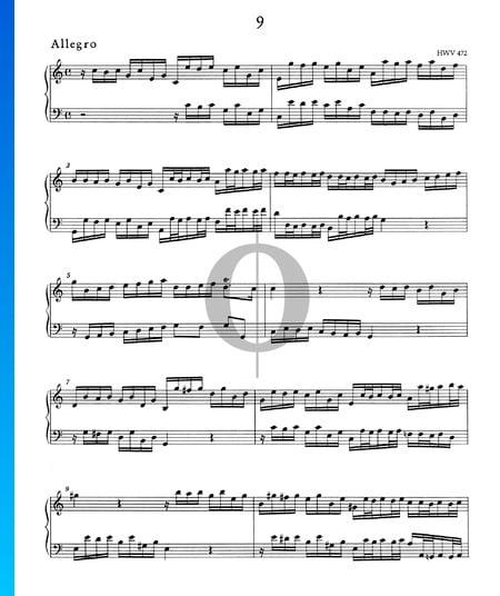 Allegro C Major, HWV 472 Sheet Music