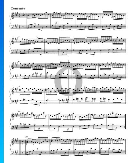 Suite A Major, HWV 454: 2. Courante Sheet Music