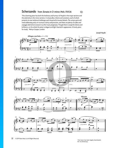 Sonata in C-sharp Minor, Hob. XVI:36 : 2. Scherzando Partitura