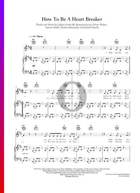 How To Be A Heart Breaker Musik-Noten