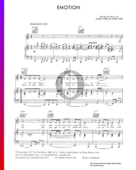 Emotion Sheet Music