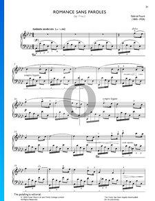 Romance Sans Paroles, Op. 17 No. 3