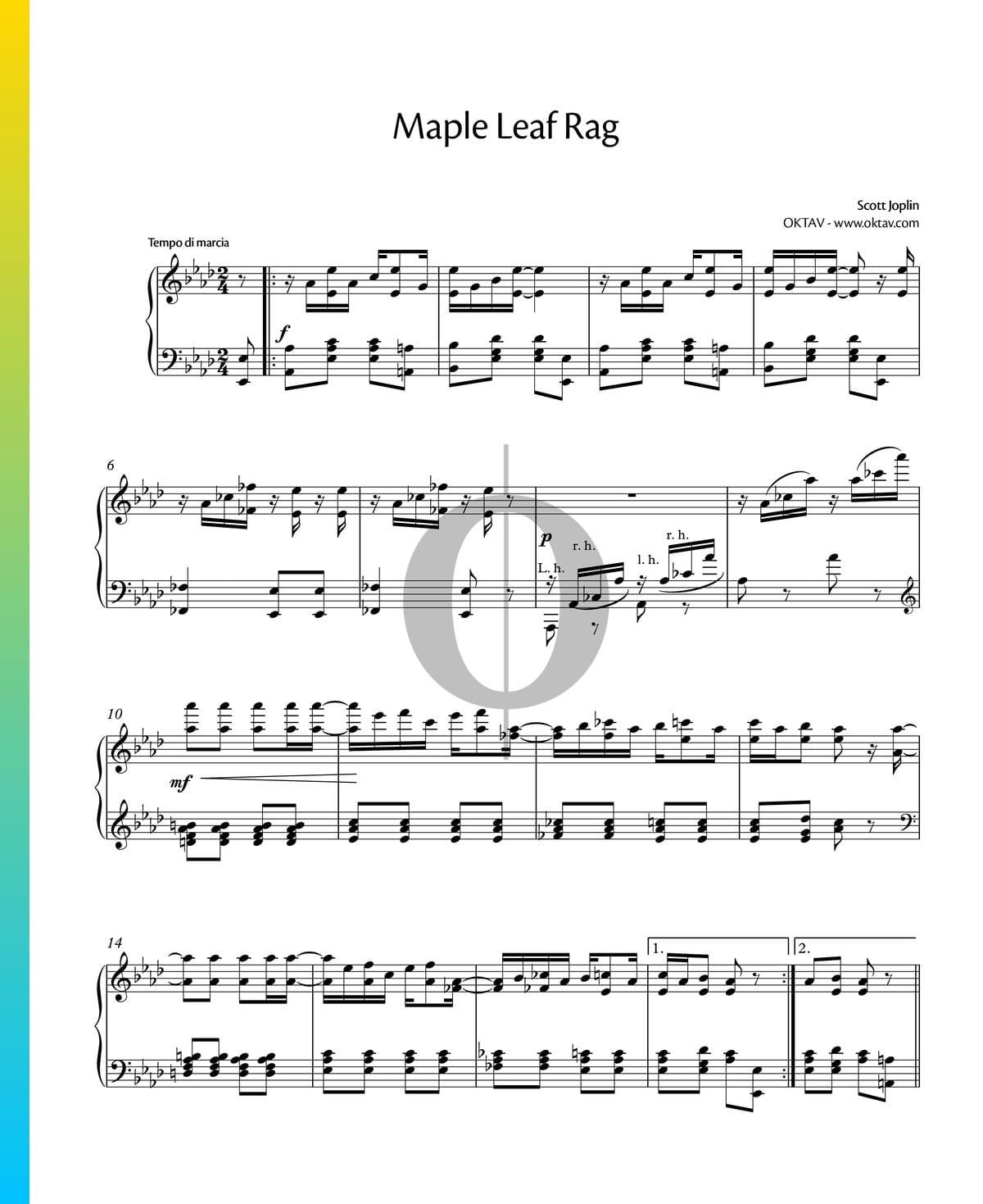 Maple Leaf Rag Sheet Music Piano Solo