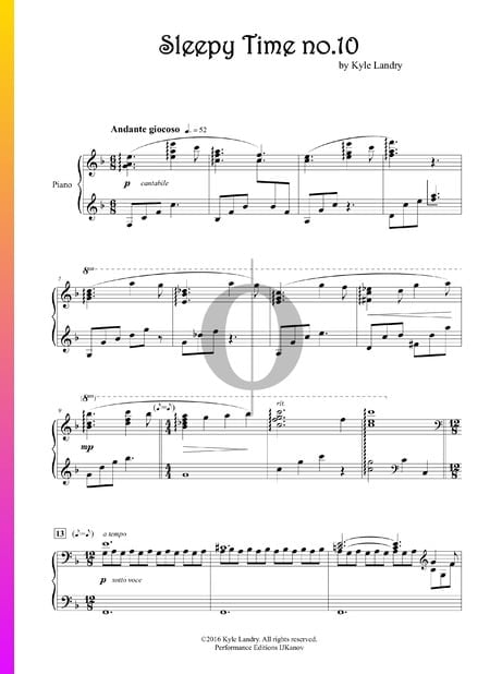 Sleepy Time no. 10 Musik-Noten