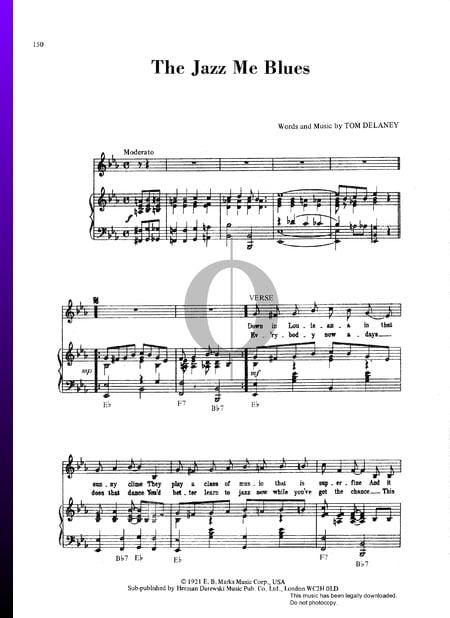 Jazz Me Blues Sheet Music