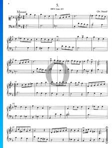 Minueto en sol menor, BWV Anh. 115